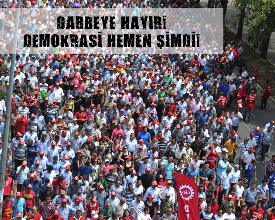 İstanbul'dan sonra İzmir'den haykırıyoruz: Darbeye hayır demokrasi hemen şimdi!