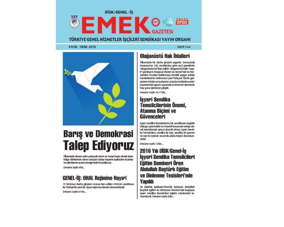 Emek Gazetesi'nin 144. Sayısı Çıktı!