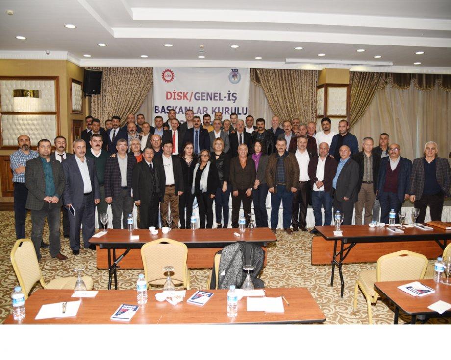 DİSK/Genel-İş Başkanlar Kurulu Toplantısı Ankara'da Yapıldı