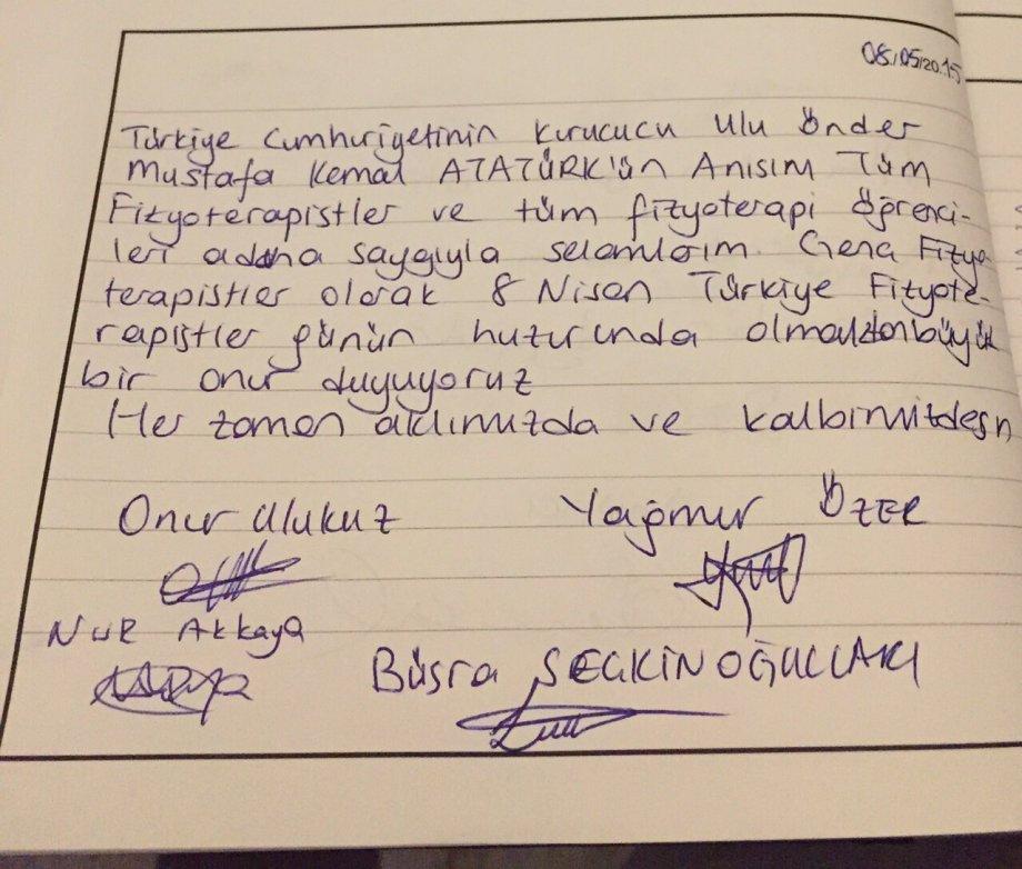 8 Nisan Türkiye Fizyoterapistler Günü
