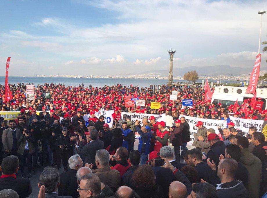 Belediye İşçileri Kadro İçin Ayağa Kalktı
