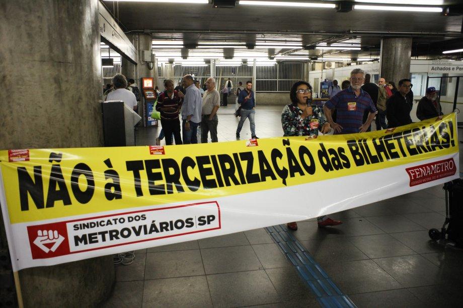 Brezilya İşçileri Metro Özelleştirmesine Karşı Greve Çıktı