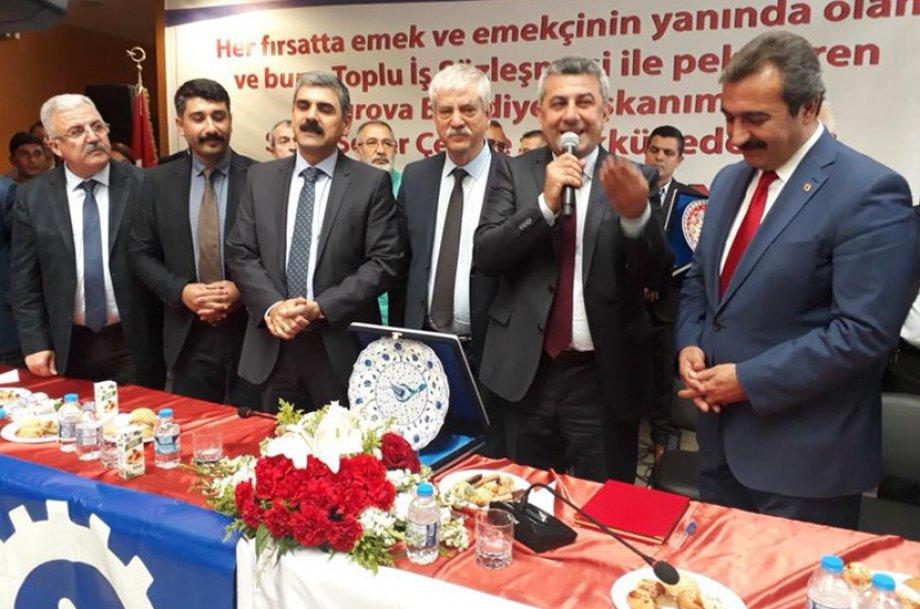 Çukurova Belediyesi ile Toplu İş Sözleşmesi İmzaladık
