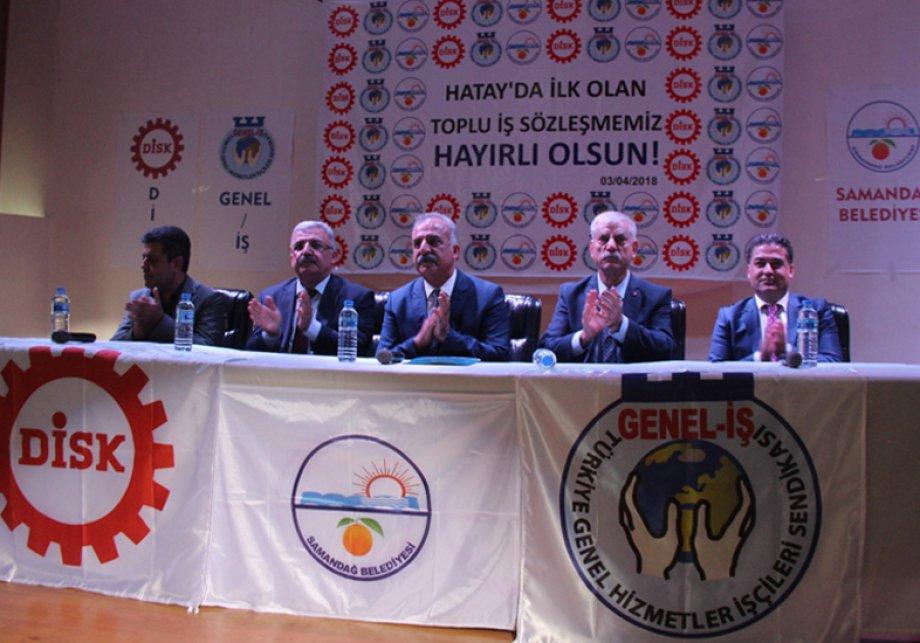 Hatay'da Bir İlk: Samandağ'da Taşeron Şirket İşçileriyle TİS İmzalandı