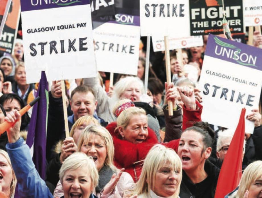 İskoçya'da 'Eşit İşe Eşit Ücret' Talepleri Gerçekleşmeyen Kadınlar Grevde!