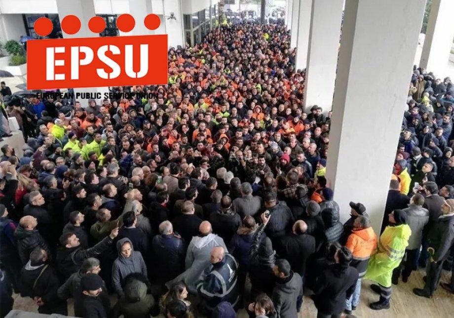 İzenerji Eylemine EPSU'dan Destek