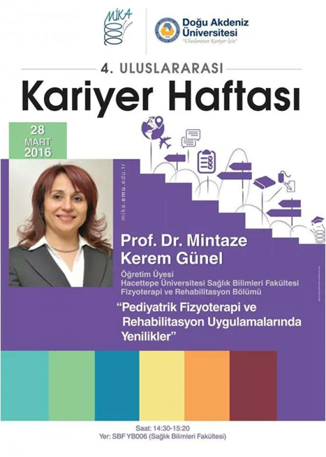 28. Mart 2016 tarihinde ÇFD yönetim kurulu başkanı Doğu Akdeniz Üniversitesi'nde