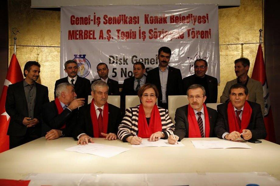 Sendikamız İzmir 5 No'lu Şubemizin Örgütlü Olduğu Konak Merbel'de Toplu Sözleşme İmzaladık