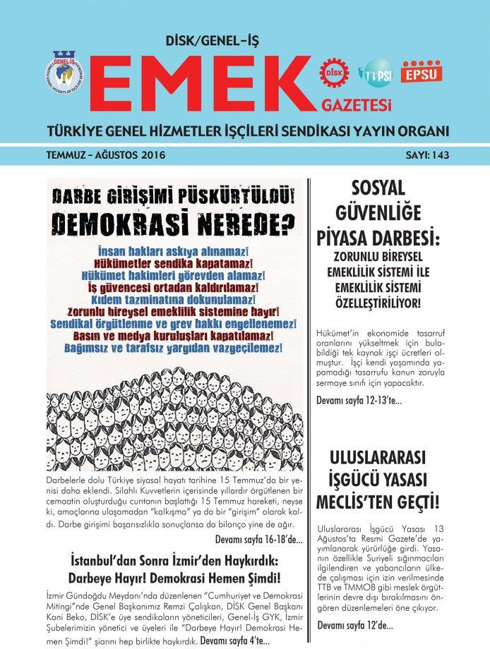Emek Gazetesi 143. Sayı