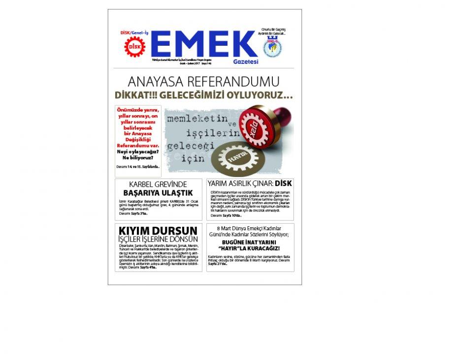 Emek Gazetesi'nin 146. Sayısı Yeni Formatıyla Çıktı!