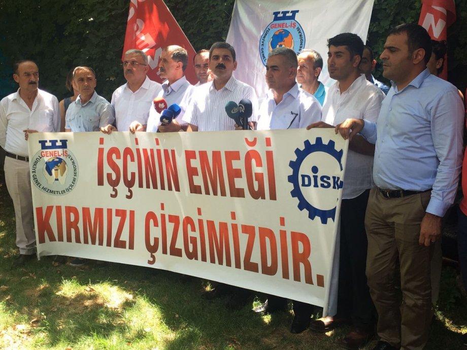 İşten Atılan Üyelerimiz İçin Diyarbakır'dan Seslendik