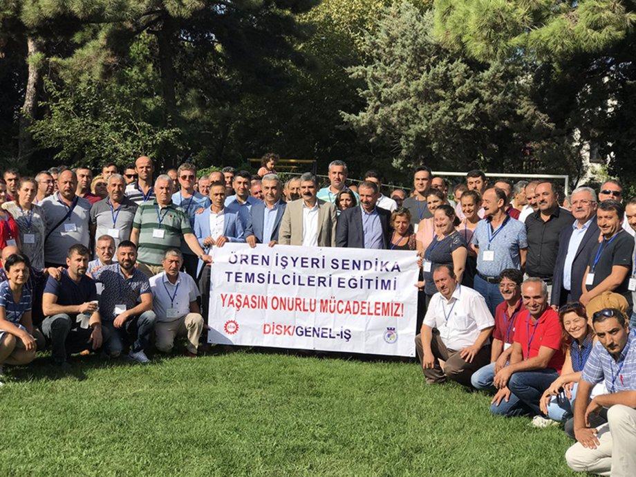 """Ören İşyeri Sendika Temsilcileri Eğitim Semineri """"Yaşasın Onurlu Mücadelemiz"""" Şiarıyla Başladı"""