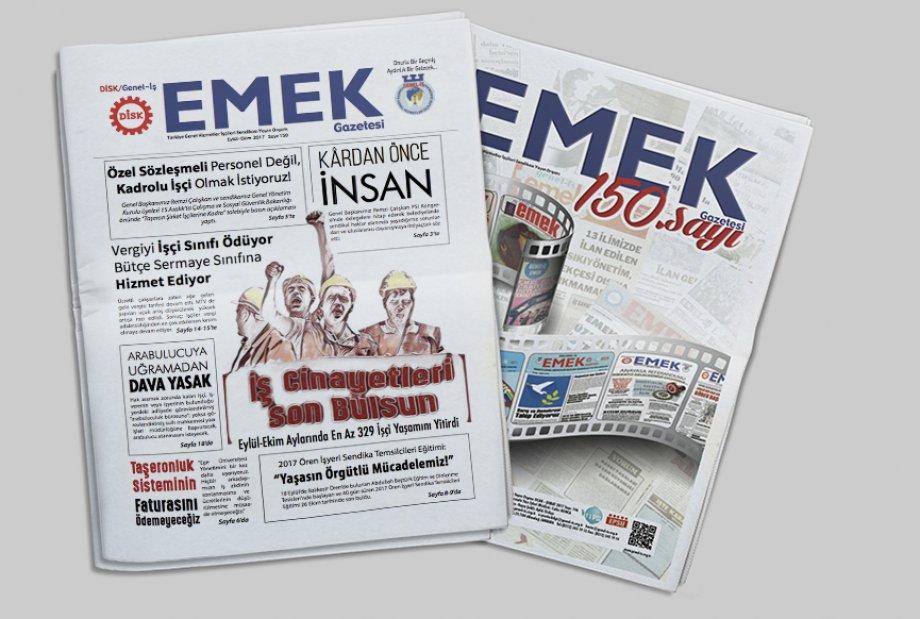 EMEK Gazetesi 150. Sayısı ile Mücadelemize Işık Tutmaya Devam ediyor