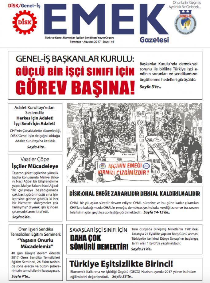 Emek Gazetesi 149. Sayı