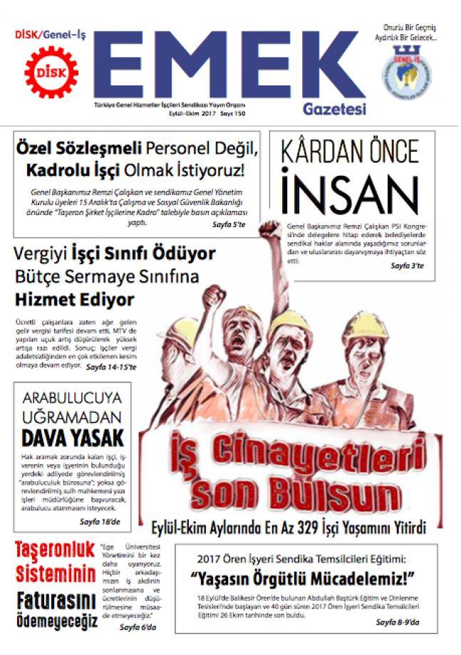Emek Gazetesi 150. Sayı