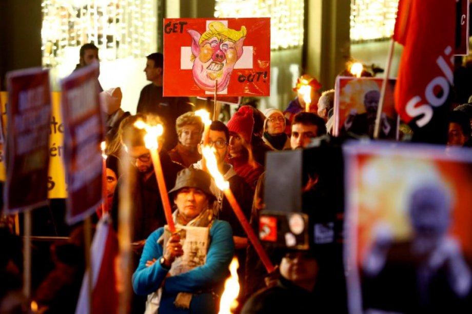 Davos'a Protestolar Damga Vurdu
