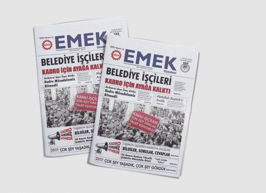 EMEK Gazetesi'nin 151. Sayısı Çıktı