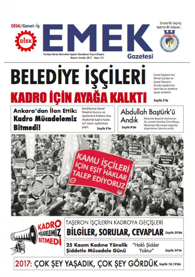 Emek Gazetesi 151. Sayı