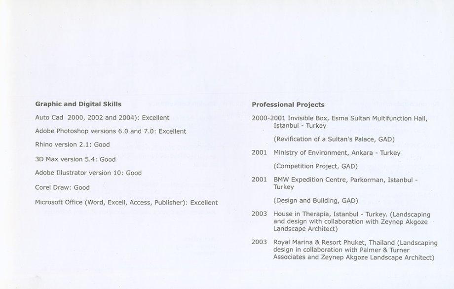 Mezuniyet Sonrası Hazırladığı CV Kitapçığı