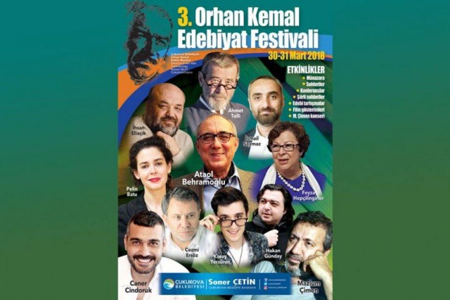 3. Orhan Kemal Edebiyat Festivali Adana'da Başlıyor