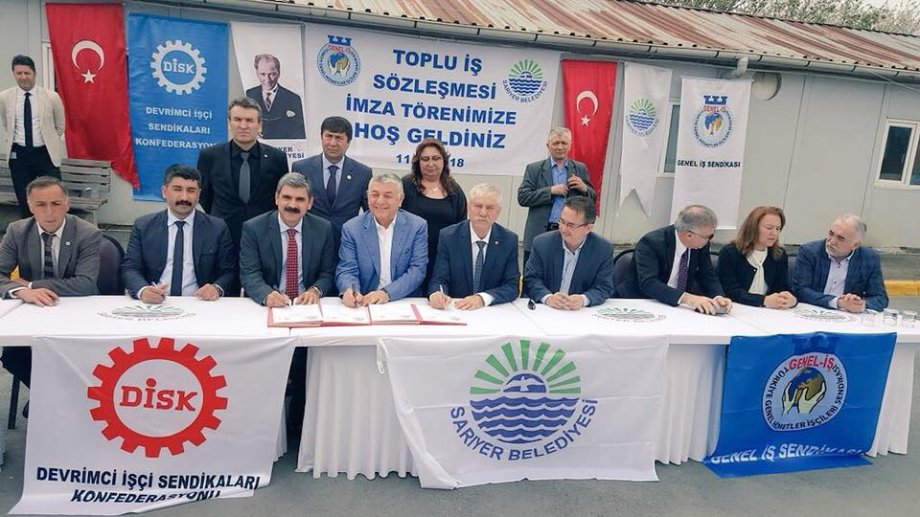 Sarıyer Belediyesi ile Toplu İş Sözleşmesi İmzaladık