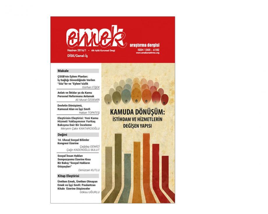 EMEK Araştırma Dergisi Haziran 2016