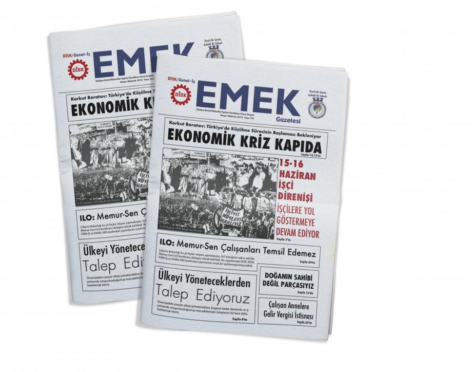 EMEK Gazetesi'nin 154. Sayısı Çıktı