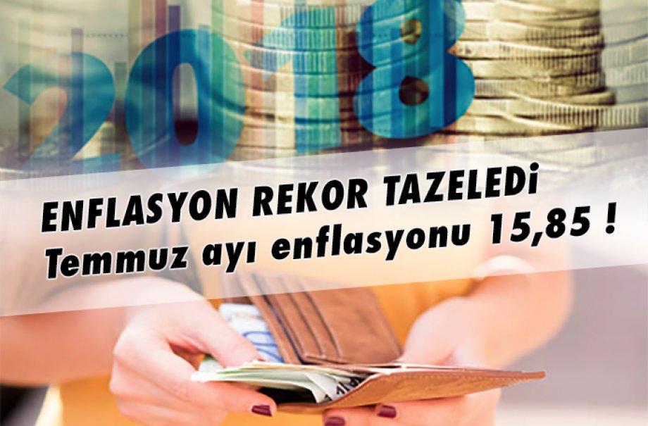 Enflasyon Rekor Tazeledi… Temmuz Ayı Enflasyonu 15,85 !