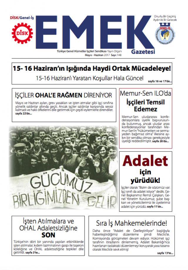 Emek Gazetesi 148. Sayı