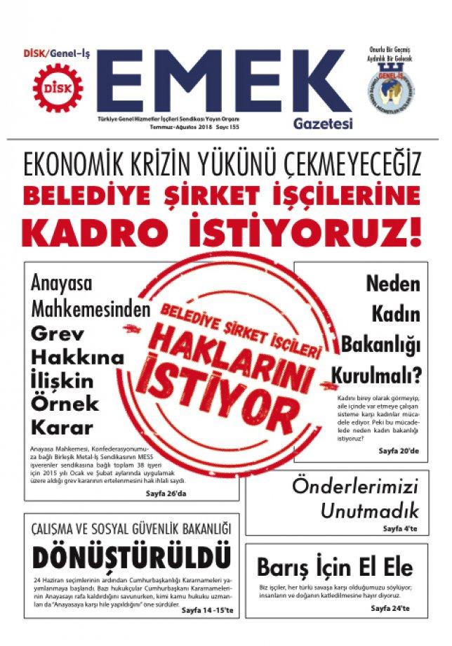 EMEK Gazetesi 155. Sayı