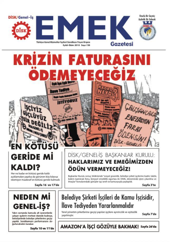 EMEK Gazetesi 156. Sayı