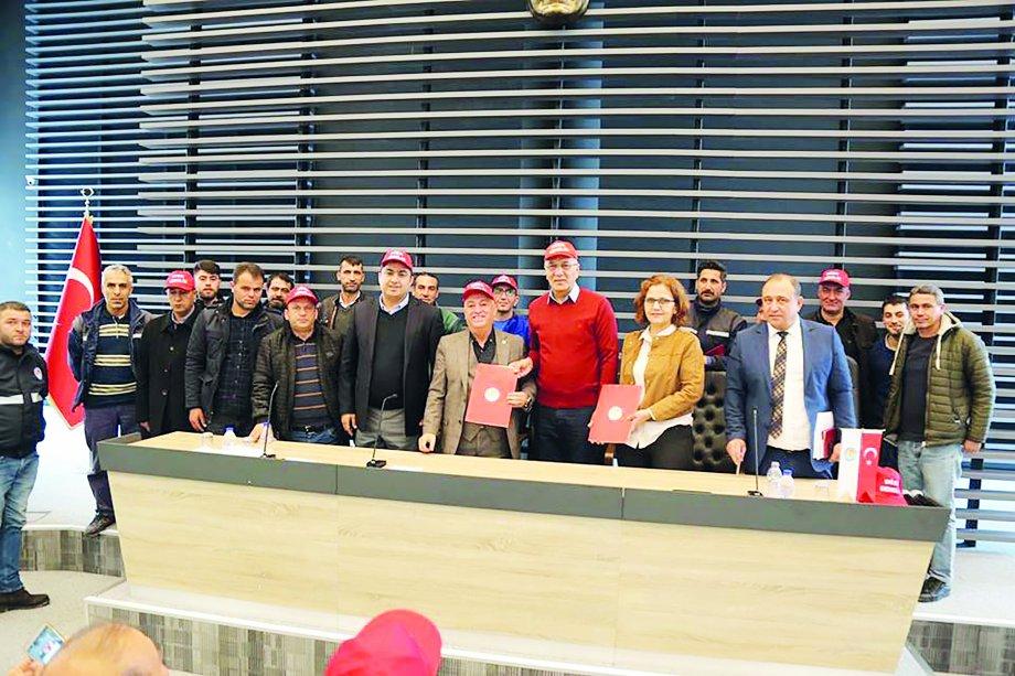 Mezitli Belediyesi'nde Toplu İş Sözleşmesi İmzaladık