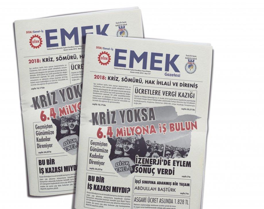 EMEK Gazetesi'nin 157. Sayısı Çıktı