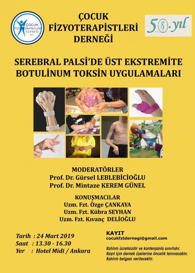Serabral Palsi'de Üst Ekstremite Botulinum Toksin Uygulamaları (24 Mart 2019)