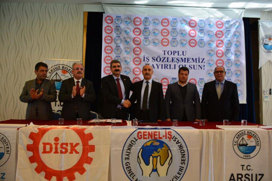 Arsuz Belediyesi'nde Toplu İş Sözleşmeleri İmzaladık