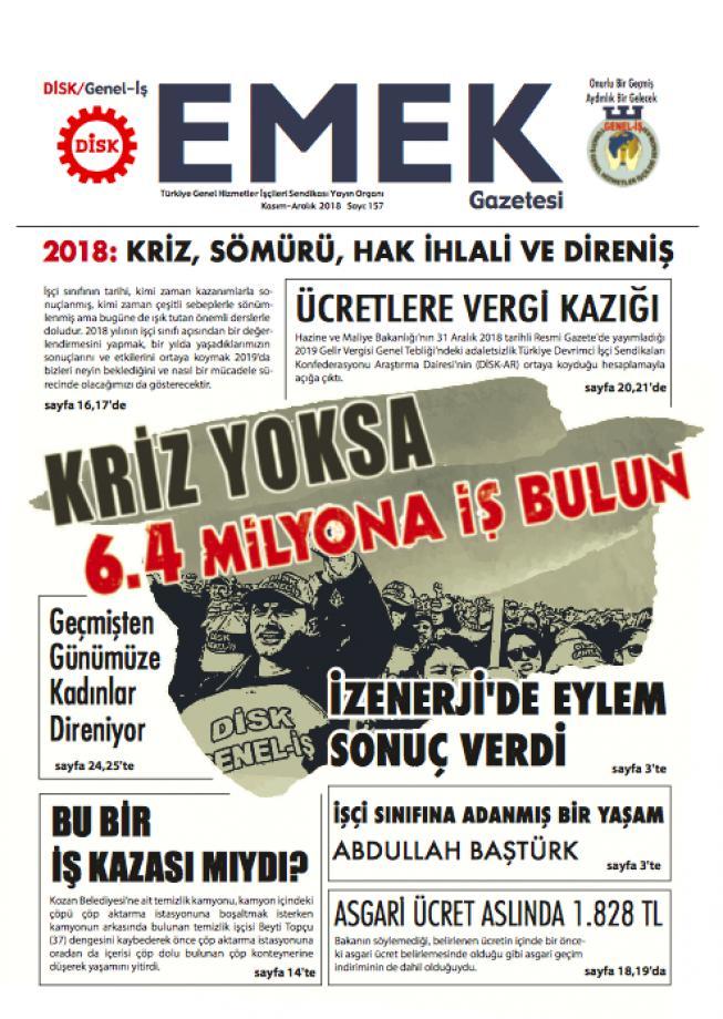 EMEK Gazetesi 157. Sayı