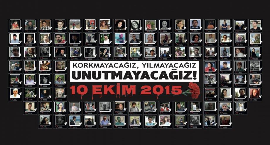 10 Ekim Katliamını Unutmadık! Unutturmayacağız!