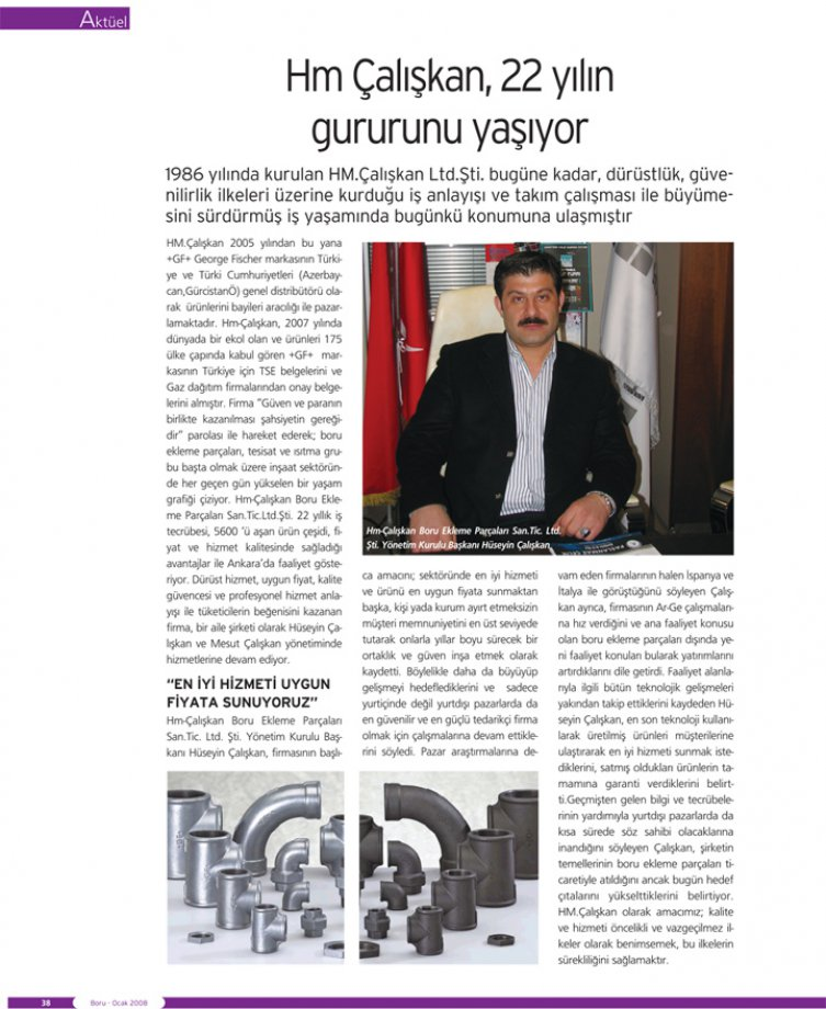 HM Çalışkan, Proud of 22 Years
