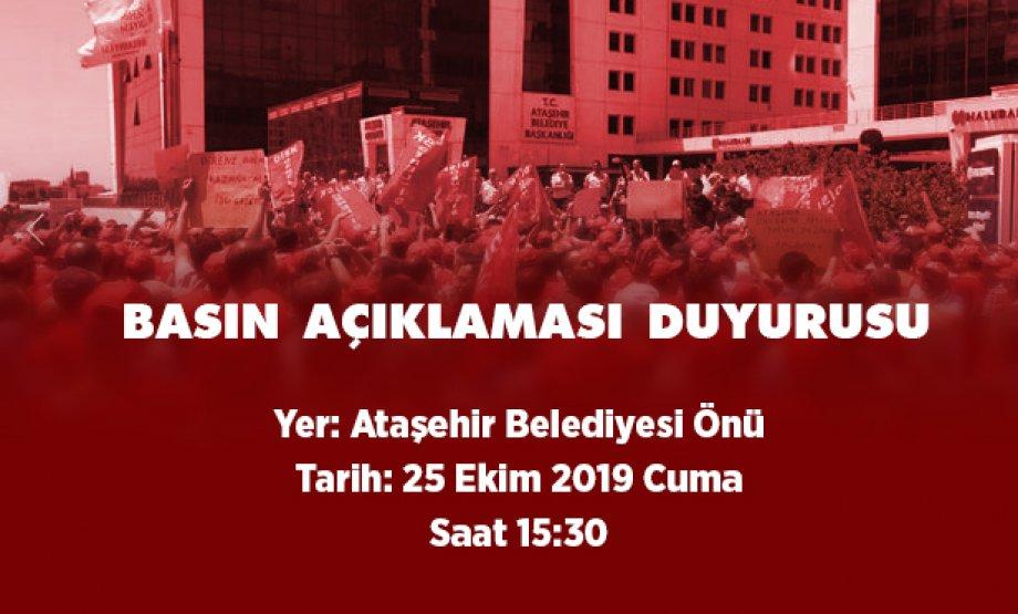 Ataşehir Belediyesi Önündeyiz