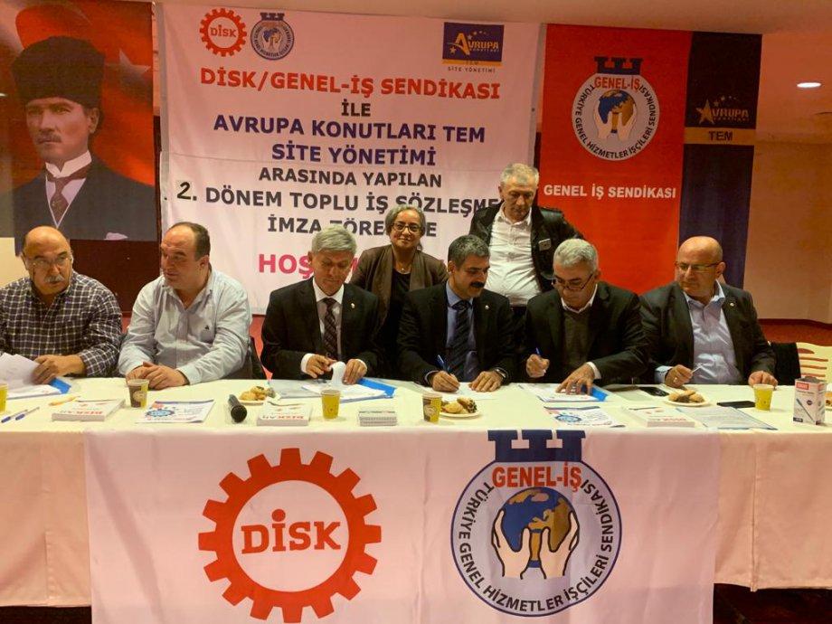 Avrupa Konutları Tem Site Yönetimi ile Toplu İş Sözleşmesi İmzaladık