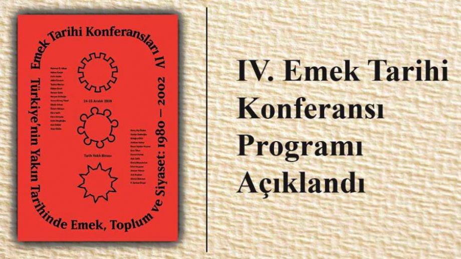 IV. Emek Tarihi Konferansı Programı Açıklandı