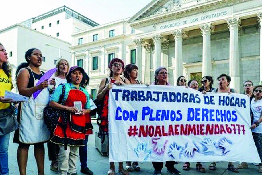 İspanya'da Ev İşçisi Kadınlar Örgütleniyor