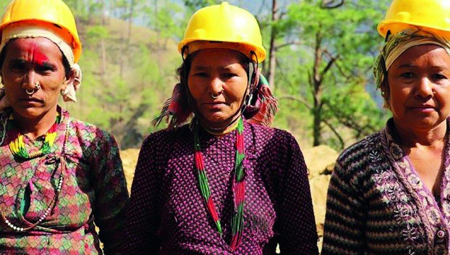 Nepal'de İnşaat İşçisi Kadınlar Direnişte
