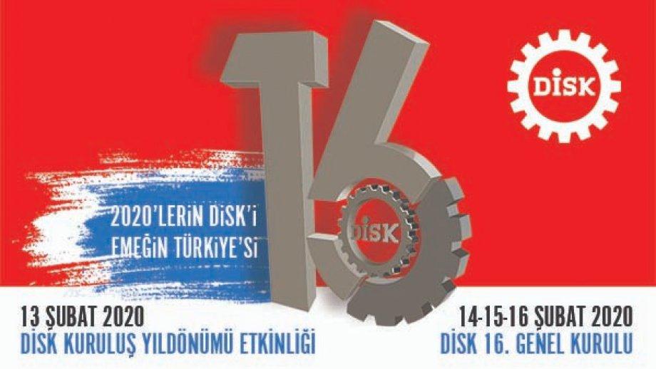 2020'lerin DİSK'i Emeğin Türkiye'si İçin Toplanıyor