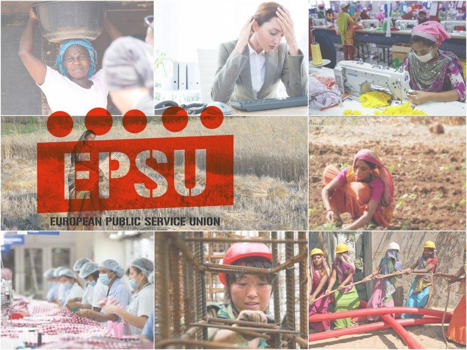 EPSU 8 Mart'ı Kadının Sağlık Hakkına İthaf Etti