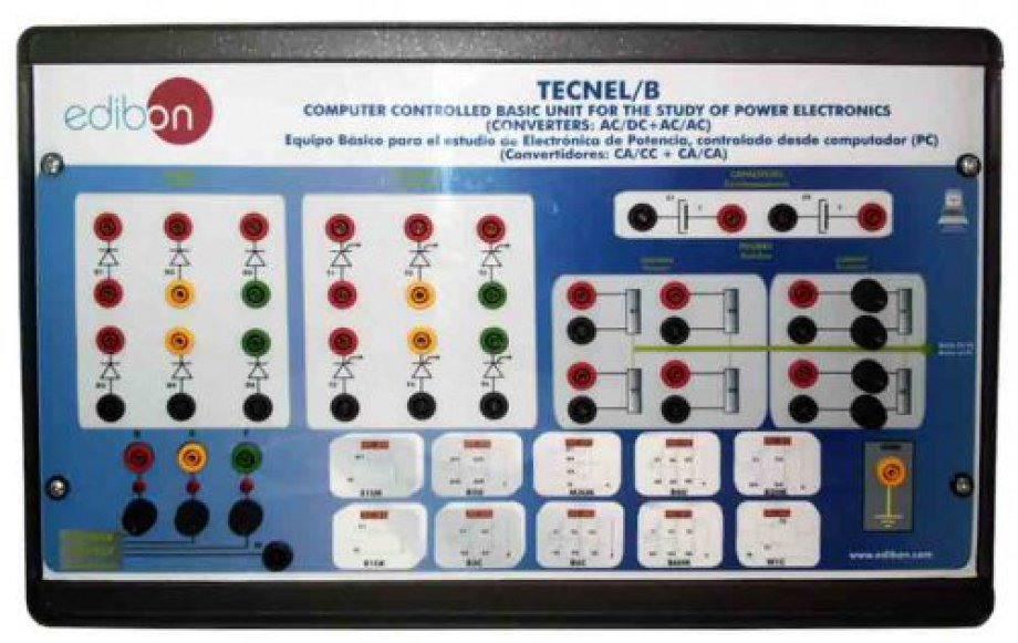 TECNEL/B Computer Controlled Basic Teaching Unit for the Study of Power Electronics (no IGBTS). (Converters: AC/DC+AC/AC)
