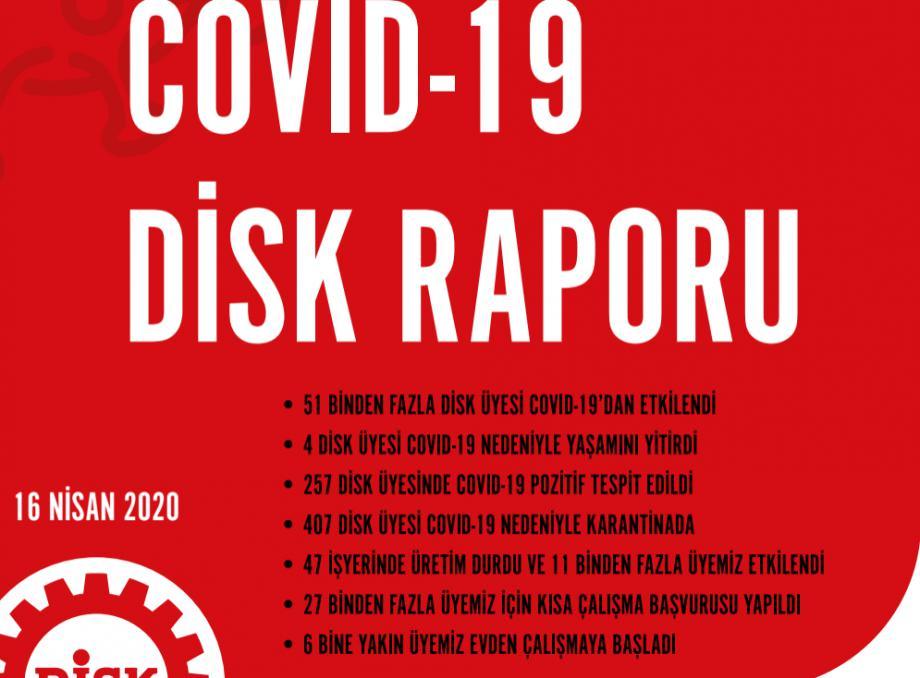 DİSK Üyeleri Arasında Salgının Etkileri: COVID-19 DİSK Raporu