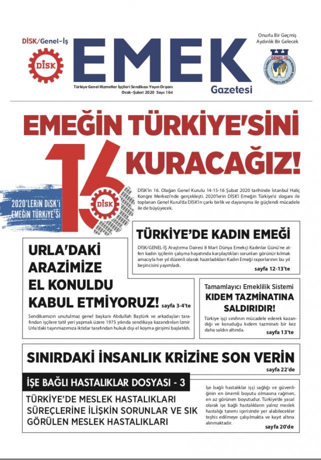 EMEK Gazetesi 164. Sayısı