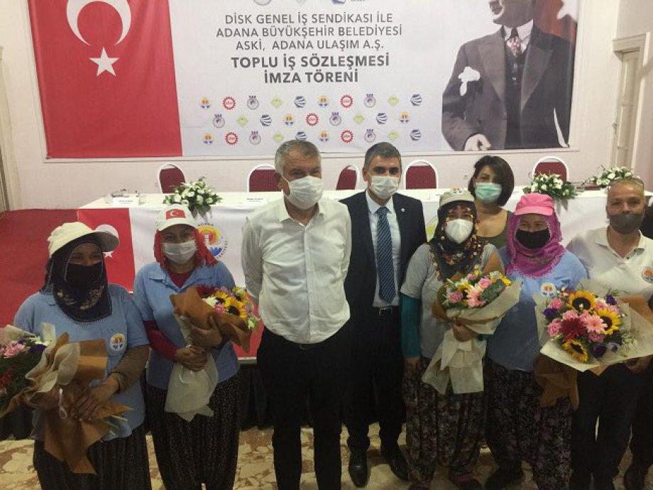 Adana Büyükşehir Belediyesi ile Toplu İş Sözleşmesi İmzaladık
