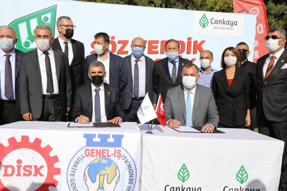 Çankaya Belediyesi ile Toplu İş Sözleşmesi İmzaladık